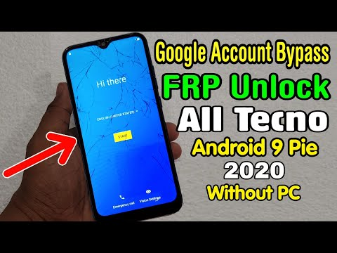 All Tecno Mobile FRP Unlock/ Google Account Bypass 2020 || ANDROID 9 PIE | New Method (Without PC)