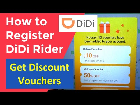 How to Register DiDi Rider app, Get Discount Vouchers, Rideshare App
