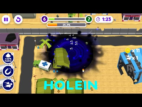 video review of Holein eating games 2021! Hole swallow the world