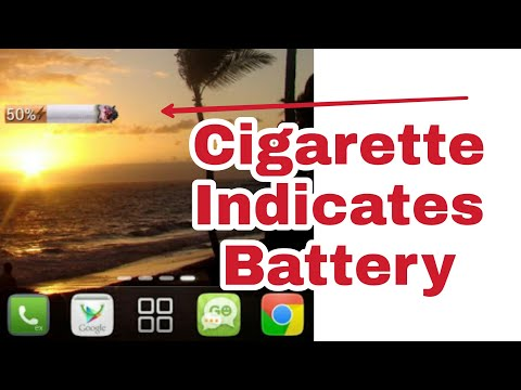 The Cigarette Widget That Will Tell You Your Smartphone's Battery