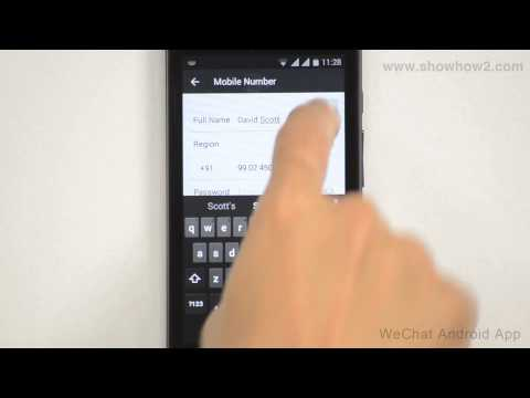 WeChat Android App - How To Sign Up