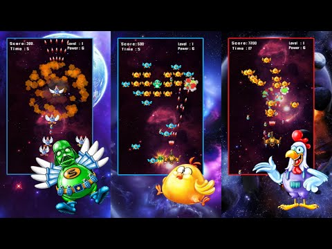 Space Attack: Chicken Shooter Android Gameplay