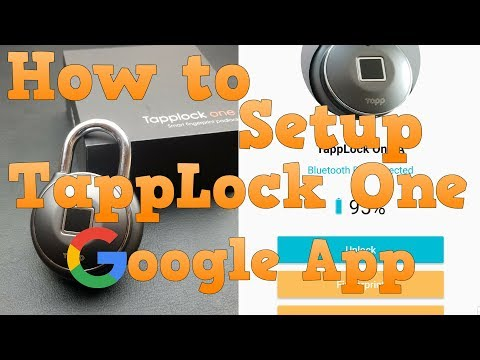 How to Setup TappLock One - Google Play / Android App | Demo