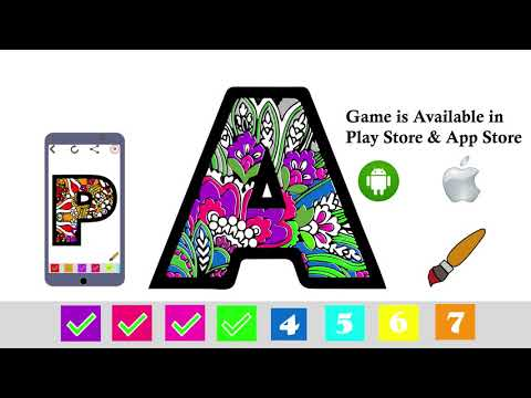 Alphabets Color by Number Book: Coloring & Painting Letters Game