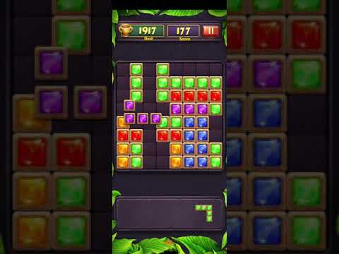 Block Puzzle Jewel Game . Android Block puzzle game play.