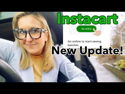 NEW Instacart Shopper App Update- 2021- Go Online/Offline -Batches