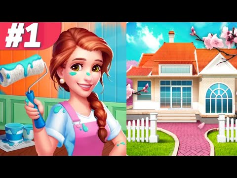 My Home Design Dreams Gameplay Walkthrough Part #1 Full Warm Studio Story Room iOS Android
