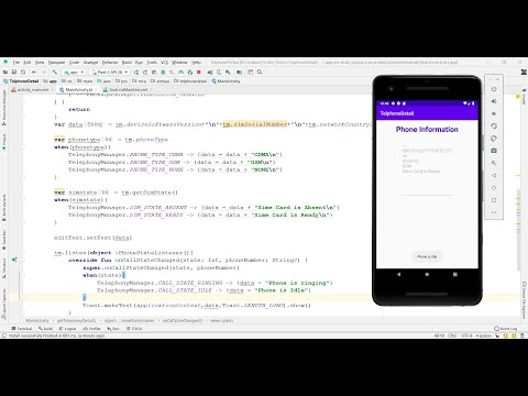 How to develop android application to get Phone State Information   Android Kotlin