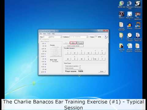 Functional Ear Trainer (Basic)   Charlie Banacos Exercise #1 - Typical Session