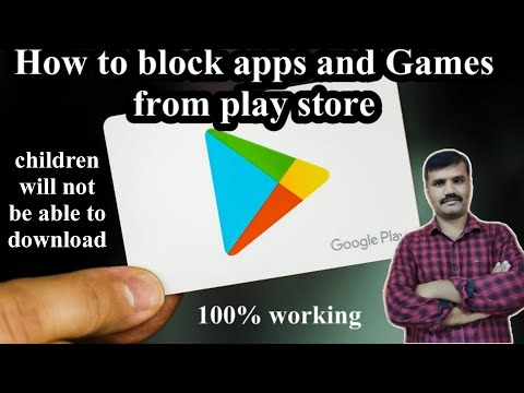 How to block apps and games from play store's