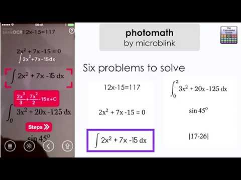 Photomath by microblink Solver #App reviewed - iPhone & Android Solve equations and calculations