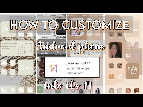 HOW TO CUSTOMIZE ANDROID PHONE TO iOs 14 | Home screen layout | Step by Step Tutorial | Angel Paner