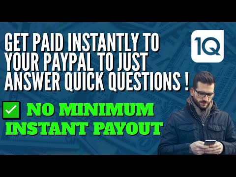 📱 1Q APP REVIEW   INSTANT PAYPAL ($ NO Minimum )   Answer A Short Question & Get Paid Instantly !