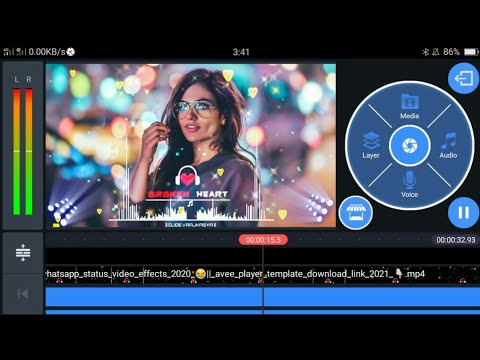 How to Make Audio Spectrum in Kinemaster | Editing Song | dj song remix full bass | DJ Song 2021