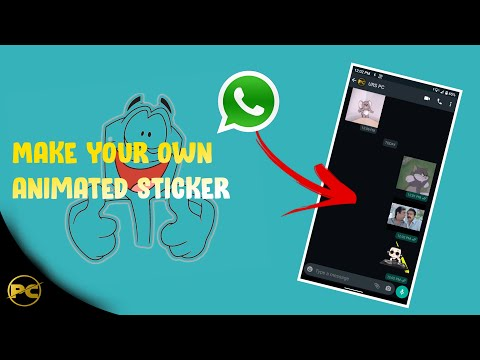 How to Create Animated stickers in Whatsapp with mobile 2020   Custom Moving sticker   Eng Subtitles
