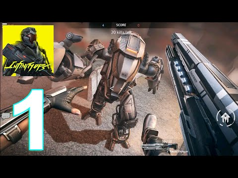 Infinity Ops: Online FPS Cyberpunk Shoote Gameplay Walkthrough Part 1 (IOS/Android)