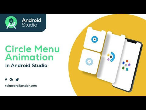 Circle Menu Animation in Android Studio - UX Research -  Figma -  Adobe XD - Android Studio Tutorial