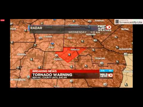 WALB Severe Weather Coverage 2/24/16 Part 2