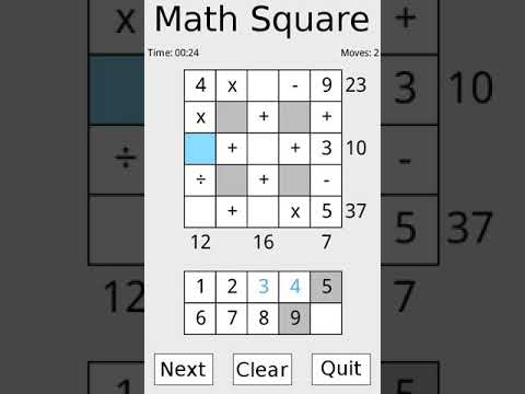 video review of Math Square