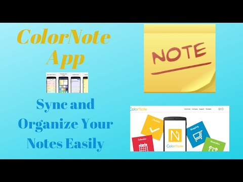 Note Taking Made Easy Using the ColorNote App-Tutorial