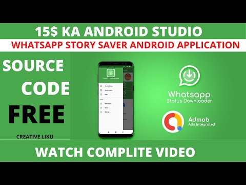 How To Create A Whatsapp Story Saver App In Android Studio | Free Source Code Download