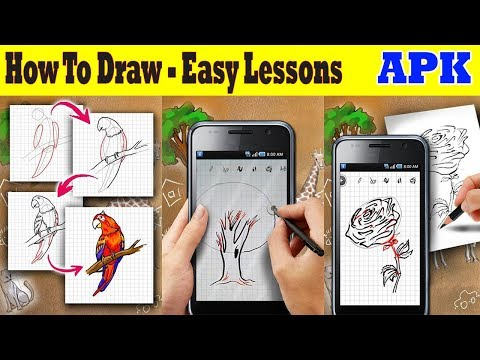 how to draw - easy lessons - step by step drawing lessons application