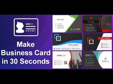 How to Create a Business Card Using Android App   Business Card Maker