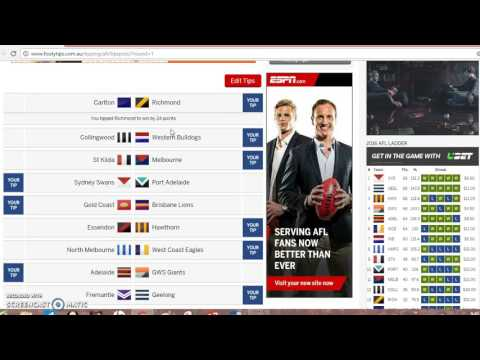 How to use ESPN Footytips