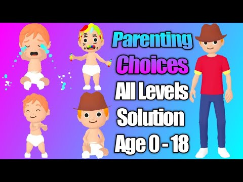 Parenting Choices - Gameplay Walkthrough - All Levels Solution - Max Level Evolution - Age 0 To 18