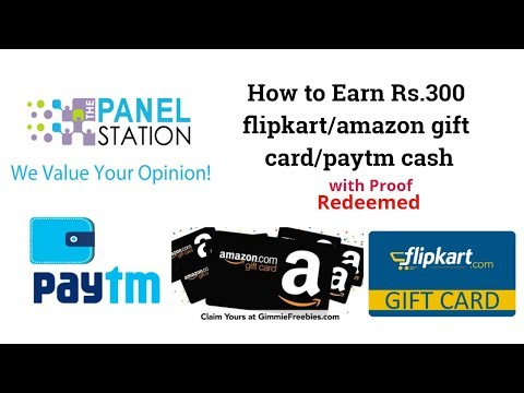HOW TO EARN MONEY, RS.300 PAYTMCASH/AMAZON GIFT CARD THROUGH PANEL STATION APP