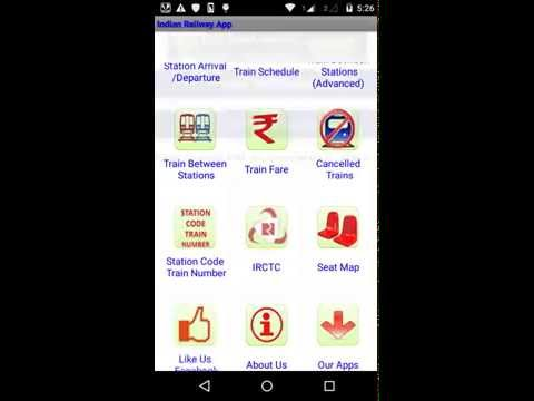 Indian Railway Android app