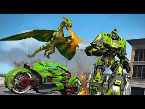 Flying Dragon Bike Robot Simulator | Deadly Flying Dragon Attack Robot Android Gameplay