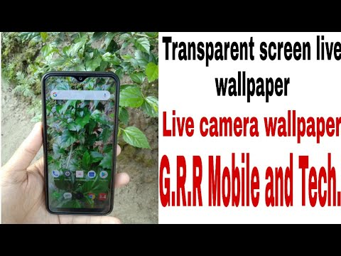 How to Transparent screen live wallpaper|Transparent screen live camera wallpaper for Android Mobile