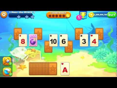 ANDROID GAME MOD APK Solitaire Paradise Tripeaks v1.1.6 Unlimited Coins