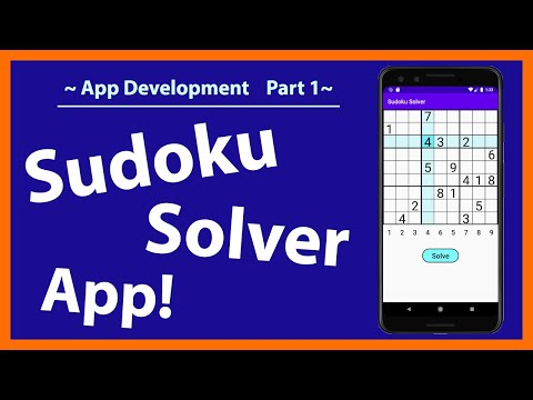 Make a Sudoku Solver App! | How to make a Sudoku solver in Android Studio | Part 1