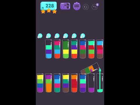 Cups - Water Sort Puzzle Level 228 ⭐️⭐️⭐️