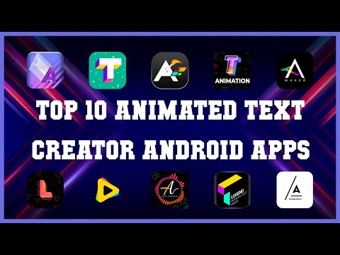 Top 10 Animated Text Creator Android App | Review