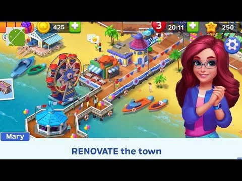 Match Town Makeover: Your Town Is Your Puzzle - Android Gameplay FHD