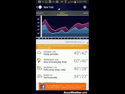 AccuWeather (by AccuWeather) - weather app for Android and iOS.
