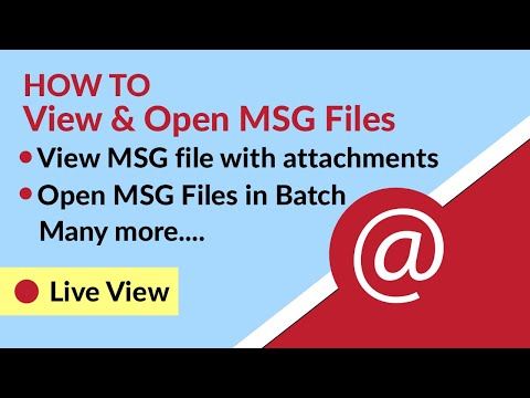 View MSG Files - How to View & Open MSG Files without Outlook