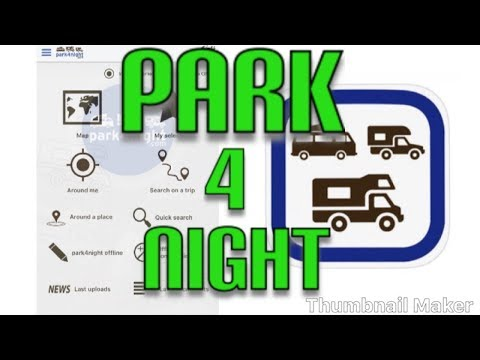 How to use Park 4 night  on iphone android park4night.com  vanlife vandwelling
