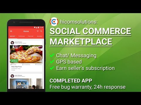 Social Commerce Marketplace Android App Template, Script, Source Code for Sale