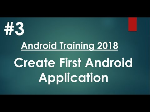 Android tutorial (2018) - 03 - Create Hello World Android application