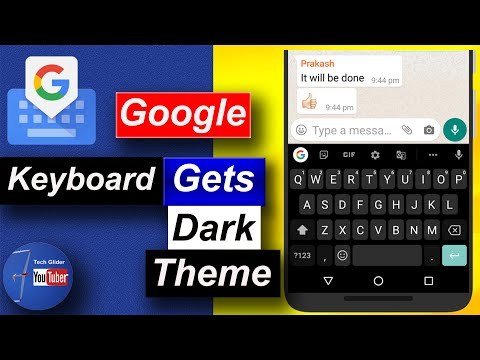 How to enable dark theme mode on Gboard ( Google Keyboard ) mobile phone android app