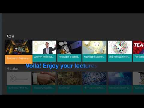 How to watch Coursera lectures on Android TV