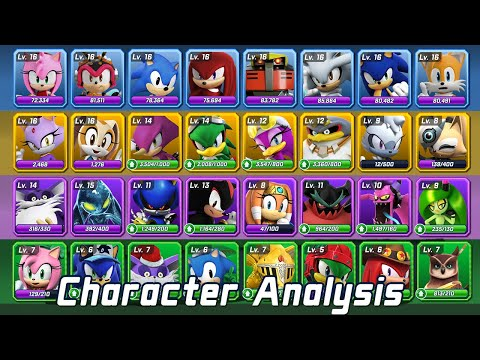 Sonic Forces Speed Battle | All 46 Characters with Trivia 2020