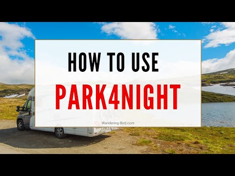 How to use Park4Night app on laptop, phone or iPad
