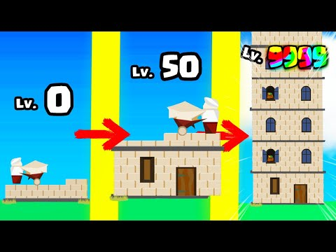 I build THE HIGHEST TOWER in Idle Tower Builder Gameplay