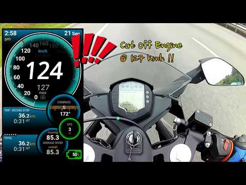 KTM RC 200 actual speed using Ulysse Speedometer - Android Apps
