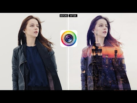 PhotoDirector Photo Editor App - Create Your Own Double-exposure Images